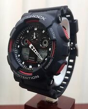 CASIO 5081 GA-100 G-Shock Resist Black& Red Antimagnetic Watch ( P160