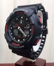 CASIO 5081 GA-100 G-Shock Resist Black& Red Antimagnetic Watch ( P160
