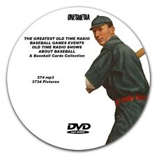 GREATEST BASEBALL GAMES EVER PLAYED  & BASEBALL CARDS COLLECTION OLD TIME RADIO