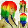 My Little Pony Rainbow Dash Cosplay Wigs Multi-Color Anime Short Straight Wig