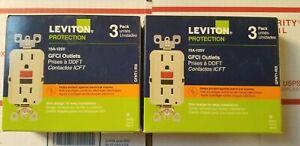 6 pack 15 Amp Self-Test SmartlockPro Slim Duplex GFCI Outlet, Ivory