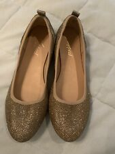 Xappeal Ballerina Gold  flats Size 7 1/2 Worn Once