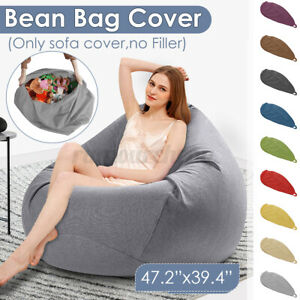 Adult Kids Bean Bag Cover Chair Lazy Lounge Sofa Seat Gamer Outdoor Indoor
