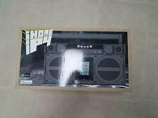 New In Box NIB  IHOME IP4 iPod Dock Boombox FM Stereo Radio Gray Equalizer
