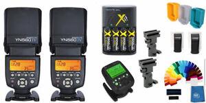 Yongnuo YN-560IV 2PC Wireless Flash Speedlite Pro Kit + YN560-TX Pro For Nikon
