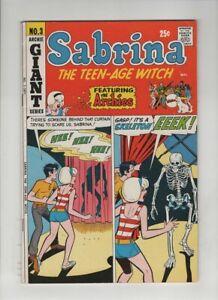 SABRINA THE TEEN-AGE WITCH #3 VF, Dan DeCarlo skeleton cvr & art, Archie 1971