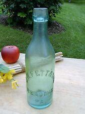 Antique Aqua Blob Top Bottle FETT & SON READING PA BLOB TOP BEER BOTTLE