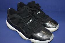 73e1765ee55173 Nike Air Jordan 11 Retro Low Barons Black White Metallic Slvr 528895-010 Sz  11