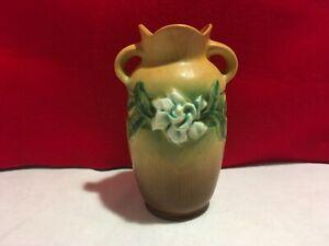 "Roseville Gardenia 6"" Vase 1940's 6 1/2"" Beautiful Vintage Vase"