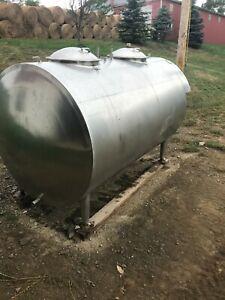 Bulk Milk Tank 600 gallon Stainless Steel Universal