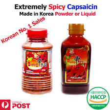 CAPSAICIN Korean Red Chilli Powder 400g or Liquid 550g EXTREMELY Spicy-Free Ship