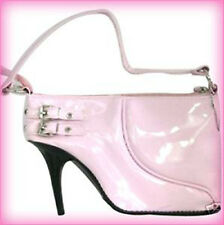 PINK FAUX PATENT FUN & FUNKY STILETTO SHOE SHAPED NOVELTY HANDBAG