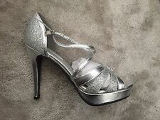 Touch Ups Silver Stella Heeled Shoes Size 8 - Wedding, Party