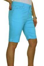 Shorts, bermuda e salopette da donna, taglia comoda blu in cotone