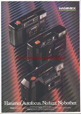 Hanimex 35RAS, 35AFX & 35AF-D Camera 1988 Mag Advert #1702