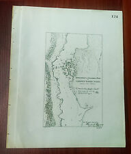 1892 Map Diagram of Colombia River, Cabinet Rapids WA, (showing rock removel)