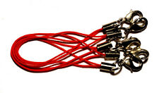 5 Bänder/Band für Anhänger - rot - Handy/Schmuck/Charm/USB-Stick/..*neu*