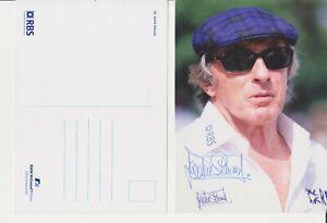 BMW Williams Sir Jackie Stewart F1 Card Hand Signed Autographed Genuine Postcard