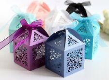 Laser Cut Rose Flower Candy Boxes Wedding Favor Valentine's Day Chocolate
