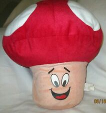 "Mushroom Pillow Plush Red & White 13"" x 15"" Toy Network 2013 Mario?"