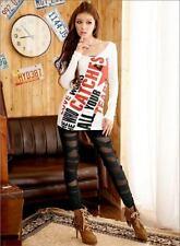 Suzanjas Leggings Noir Ultra-Contemporain Design avec Inserts Transparents M-L