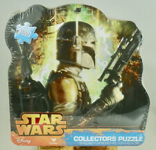 "Disney Star Wars Boba Fett Puzzle Collectors Tin 1000 Pcs 18x24"" - Sealed"
