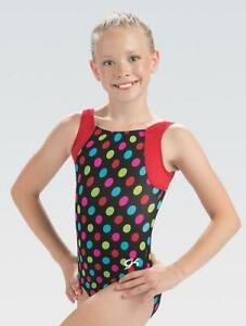 NWT Adorable, super comfortable Party Dots GKids GK ™ gymnastics leotard CL