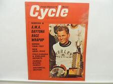 June 1964 Cycle Magazine Daytona Honda Sebring Ariel Triumph Harley L10338