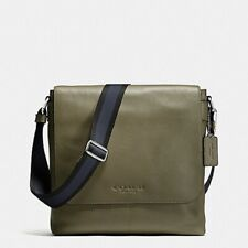 NWT_COACH SULLIVAN_SMALL MESSENGER_LEATHER MEN'S BAG_#72108_Surplus Green