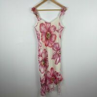 California Concepts Womens Dress 9 Multicoloured Floral Sleeveless Scoop Neck