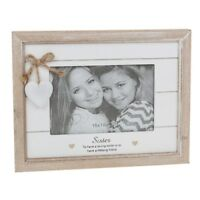 """Provence Shabby Wooden Photo Picture Frame Distressed Sentiment Home Chic  6""""x 4"""