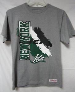 New York Jets Men's Size Medium Mitchell & Ness T-Shirt Gray A1 632