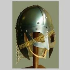 New Product HalloweenBattle Ready Viking Vendel Helm Spectacle Helmet Chain mail