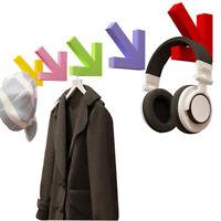 GI- AU_ BL_ Wall Mounted Wood Arrow Hook Hanger Hat Coat Clothes Rack Home Decor