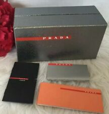 Prada Sunglasses Eyeglass Gift Box Metallic Silver Empty Box W Booklets