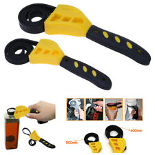 2Pcs Rubber Strap Car Truck Oil Filter Wrench Set Home Wrench Open Bottle Caps