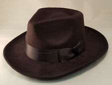 Deluxe Black Fedora Gangster Hat 20's Costume Capone Mobster Adult One Size