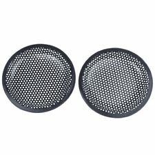 6.5inch Metal Mesh Round Car Woofer Cover Speaker Grill Black 2 Pcs L6V9 X3 D1Q6
