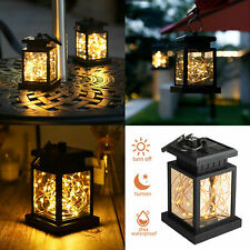 Hanging Solar Powered Led Lantern Light Outdoor String Lamp Yard Garden Decor