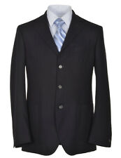 MALO Dark Midnight Blue Slim Fit Wool 3-Button Sportcoat 42 Regular 42R $1,075