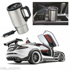 Stainless-steel Silver Heated Travel Mug Sturdy 12V Self-heating Cups For Coffee