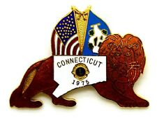 Pin Spilla Lions International Connecticut 1975 cm 5 x 3,9