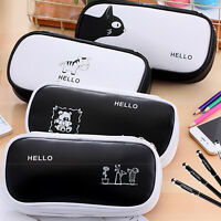 New Cute Pen Pencil Case Large Capacity Pen Box School Stationery Cosmetic Bag