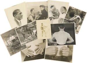Lot of TEN (10) Nice BENNY LEONARD Boxing Photographs RARE