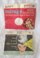 Vintage Jac-O-Net Hair Nets - For Grey or White Hair - 1 Net Per Package