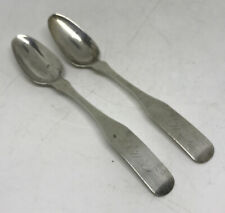 New listing David Brown Antique Coin Silver Spoons, Early Warren Ri c1815