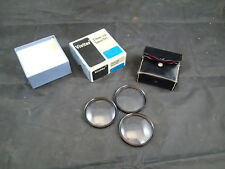 Vivitar 55mm #1,#2,#3 Close-up Macro Set Lens Filter Kit Japan with case & Box