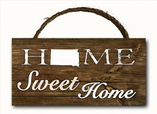 ALL 50 State Sweet Home Hanging Wood Plaque Wall Sign 12x6 Indoor Outdoor NEW