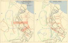 Operation Lightfoot. 10 & 30 Corps 23-24 October. World War 2. Egypt 1966 map