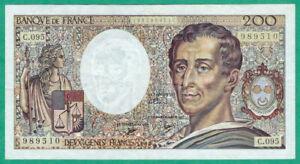 BILLET DE 200 FRANCS MONTESQUIEU - 1990 SUP